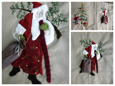 couture,patchwork,appliqué,free scrap quilt&stitch,noël