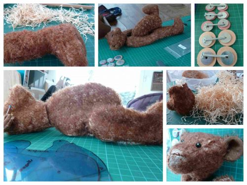 ours,mohair,couronnes,bricolage