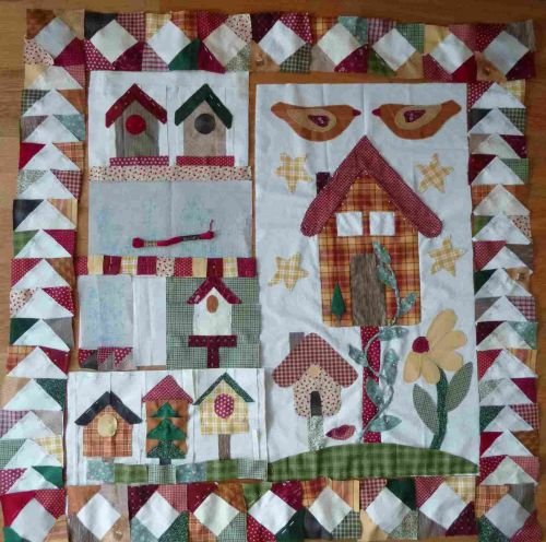 ours,tricot,nichoirs,patchwork