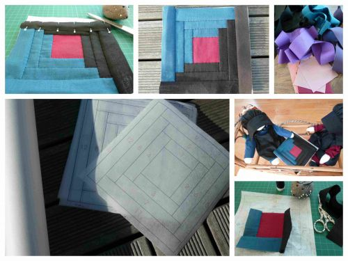 broderie,patchwork,ours,log cabin