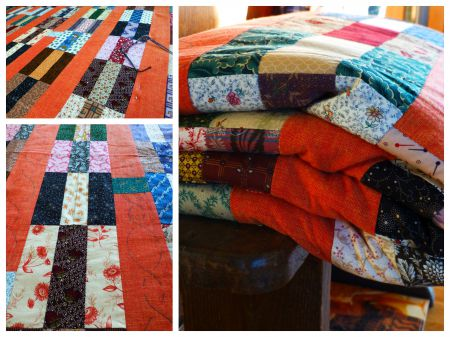 ouvrages oubliés,patchwork,l'orange,broderie,orchard quilts