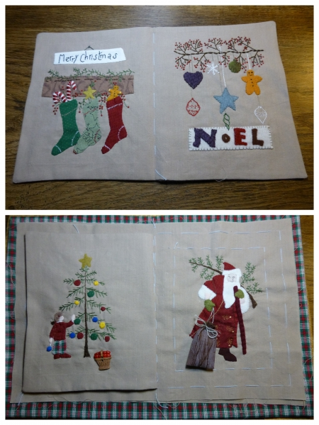 appliqué,free scrap quilt&stitch,noël