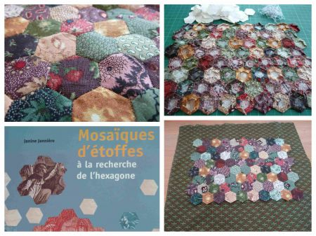 patchwork,hexagones,salon pour l'amour du fil